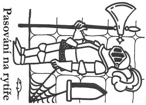 Č. 23 - upomínkový list na pasování na rytíře